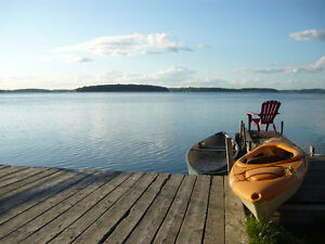 SPECTACULAR VIEWCottage Rice lake front 3 bedrms vacation rental