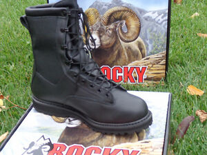 Men's Rocky Winter Leather Police Boots, Brand New!!!! REDUCED!! Kitchener / Waterloo Kitchener Area image 3