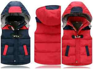 Kids winter vest NEW size: blue 6; red 8