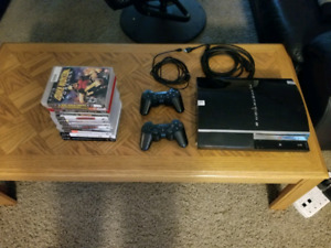 PS3, 2 controllers & 13 games
