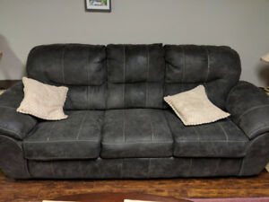 Polyester Fiber Couch for sale - Like New