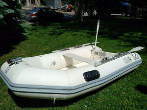 Zodiac PVC Yachtline 9ft Dinghy FIberglass Hard Bottom