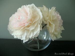 Coffee Filter Peony Flower Arrangement/ Centerpiece
