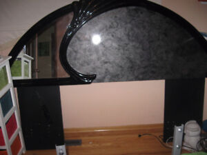 Queen size headboard with matching mirror