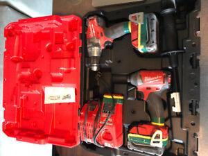 New Milwaukee fuel 18v hammer drill/impact drive combo kit!!!