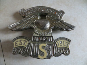 HARLEY DAVIDSON EAGLE BRASS BELT BUCKLE