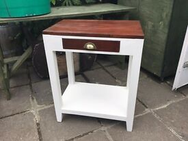 Solid handmade side table
