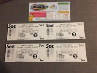 4 tickets to Sunday at car fest north