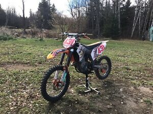 KTM 450sx with Studded tires
