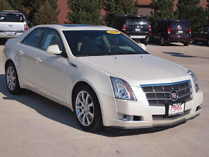 2008-2012 Cadillac CTS Sedan - White on Beige