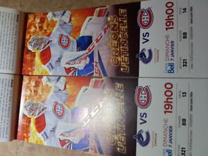 Montreal Canadiens vs Vancouver Canucks 321BB Whites