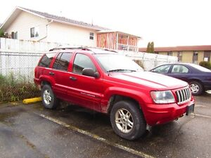 2004 Jeep Grand Cherokee red SUV, Crossover