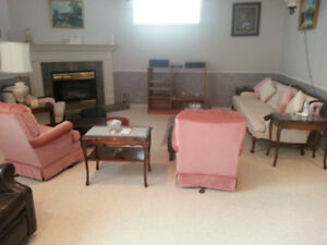 RARE FRENCH PROVINCIAL SOFA SET WITH MATCHING TABLES