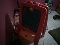 Chalk/Magnet Board, Ice cream maker, Kids tables/chairs for sale