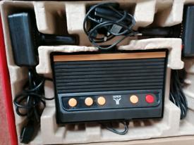 Retro plug and play arcade game console
