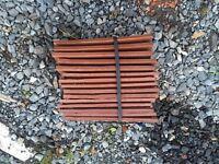 Plastic roof tiles and ridge tiles