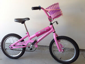 "Girls Norco 16"" bike + matching training wheels"