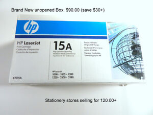 New in Box, HP Laserjet 15A print cartridges - (2 available)