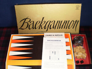 Backgammon Sets, large and small