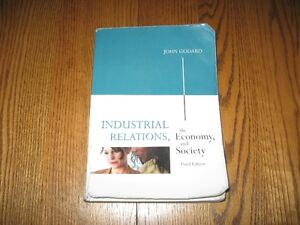 Industrial Relations, The Economy and Society 3rd Ed– Text Book