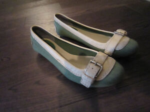 Spring Green Ballet Shoes with Buckles  Size 8