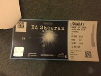 1x Ed Sheeran Tickets seated Sunday 17th June £80