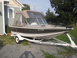 16' Sylvan Expedition 1600/50hp four stroke Mariner outboard