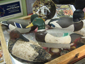 HAND CARVED AND HAND PAINTED DUCK DECOYS FROM $35.00 TO $150.00