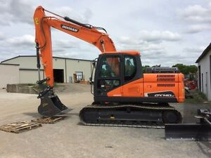 DOOSAN DX140LC-5 0% FOR 60 MONTHS  FINANCING 5yr/7500hr WARRANTY
