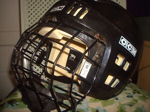 2 NICE HOCKEY HELMUTS WITH CAGE & CHIN GUARDS Windsor Region Ontario image 1