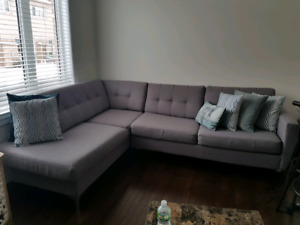 Grey Sectional for sale!