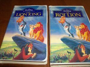 12 beaux films VHS pour enfants