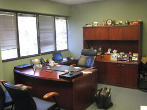 High end, solid oak executive office suite