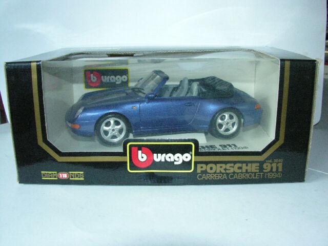 Porsche 911 Coupe & Cabriolet Burago Models 1:18