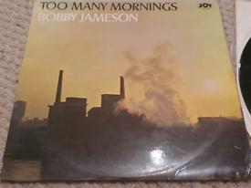 Rare Bobby Jameson Too Many Mornings Vinyl LP JOY Label 1965
