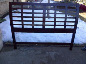 Queen Size Headboard and adj. bed frame