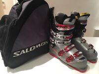 Salomon CF Mission Ski Boots Size 25.5 Like New