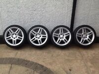Mercedes E, C Class AMG 5 Spoke Split Alloys + 4 Brand New Tyres