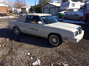 1982 Chrysler Lebaron Convertible $1000