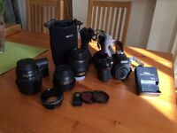 Nikon D D5100 16.2 MP - Black (Kit w/ 18-55mm and 55-200mm VR and 35mm 1.8