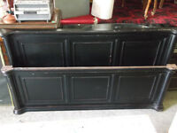 End Boards Black Nice Rustic Queen Size