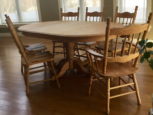 table set and chairs