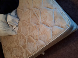 Queen Mattress Double sided Pillow top with box spring