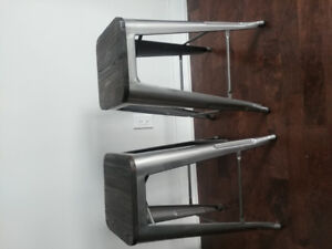 Industrial counter height stools (set of 2)