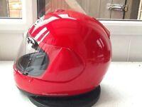 *Arai Quantum E ~ Red Full Face Helmet* Size Medium