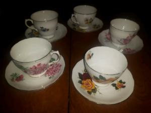 Vintage tea cups royal albert, queen anne, toyal vale, bone chin