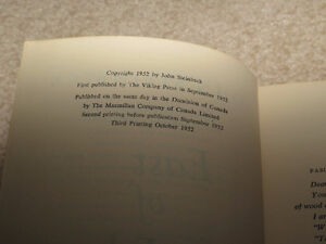 East of Eden John Steinbeck First Edition Third Printing Book London Ontario image 8