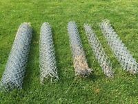 Chain link fence, posts, rail, hardware