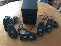 Logitech surround sound speaker system