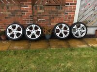 """4 x 17"""" Alloy Wheels & Tyres - from a Peugeot 206"""